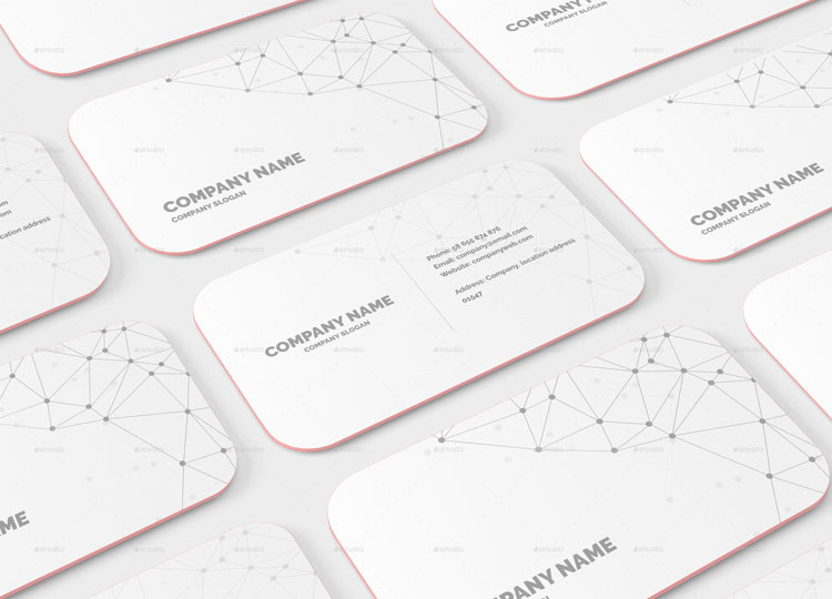 10 round corner business card mockup psd templates free for Rounded corner business card template